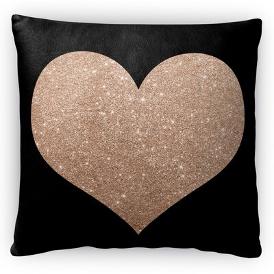 Heart Fleece Throw Pillow Size: 16 H x 16 W