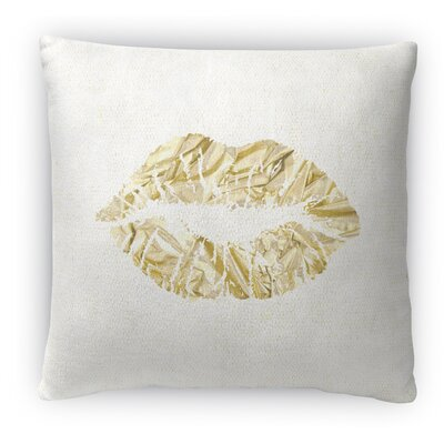 Kiss Fleece Throw Pillow Size: 18 H x 18 W