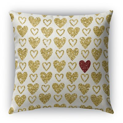 Heart Book Burlap Indoor/Outdoor Throw Pillow Size: 26 H x 26 W