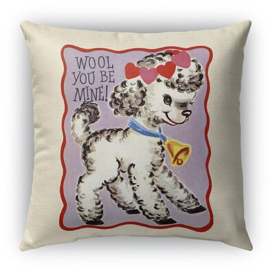 Wool You Be Mine Burlap Indoor/Outdoor Throw Pillow Size: 26 H x 26 W