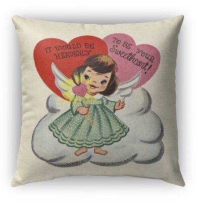 To Be Your Sweet Heart Burlap Indoor/Outdoor Throw Pillow Size: 18 H x 18 W