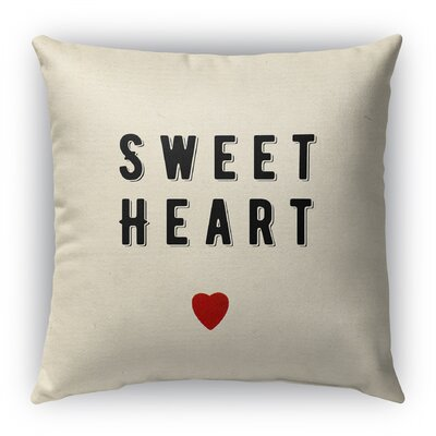 Sweet Heart Burlap Indoor/Outdoor Throw Pillow Size: 18 H x 18 W