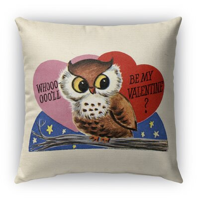 Be My Valentine Burlap Indoor/Outdoor Throw Pillow Size: 16 H x 16 W
