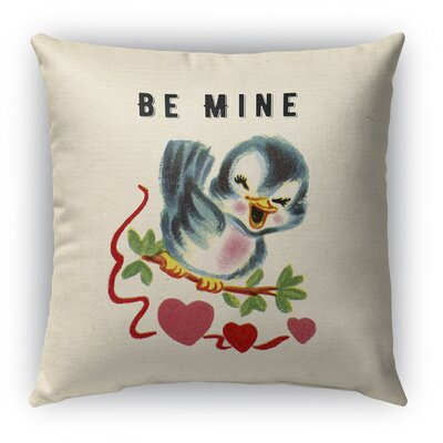 Be Mine Burlap Indoor/Outdoor Throw Pillow Size: 20 H x 20 W