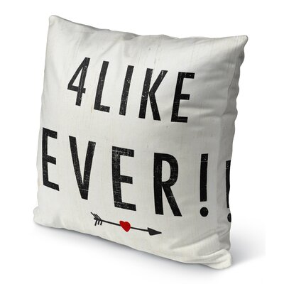 4 Like Ever' Burlap Indoor/Outdoor Pillow Size: 18