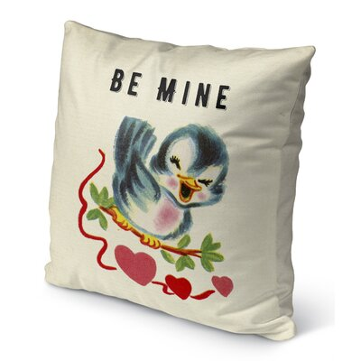 Be Mine Burlap Indoor/Outdoor Pillow Size: 26 H x 26 W