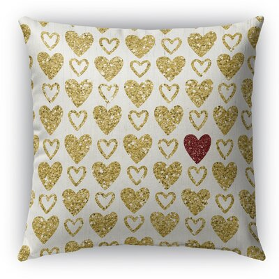 Heart Burlap Indoor/Outdoor Pillow Size: 26 H x 26 W