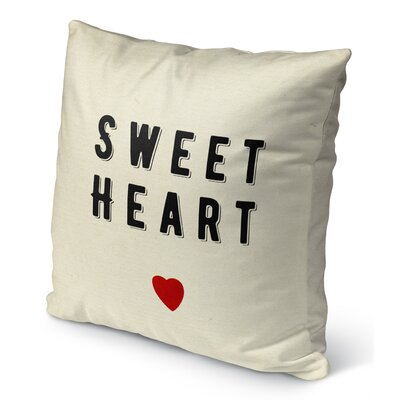 Sweet Heart Burlap Indoor/Outdoor Pillow Size: 16 H x 16 W