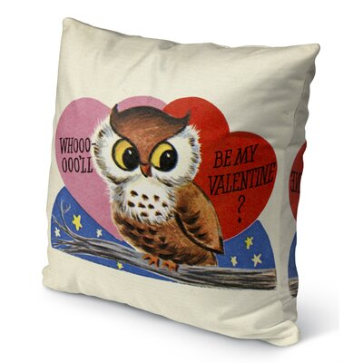 Be My Valentine Burlap Indoor/Outdoor Pillow Size: 18 H x 18 W