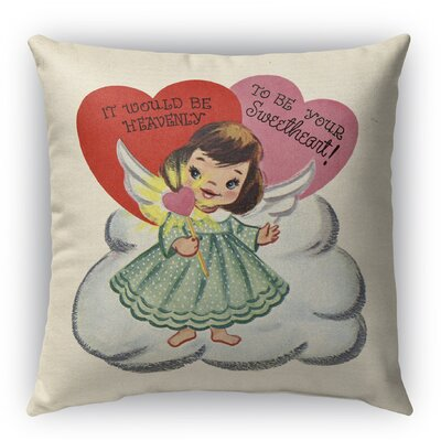 To Be Your Sweetheart Burlap Indoor/Outdoor Pillow Size: 18 H x 18 W