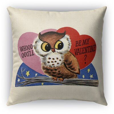 Be My Valentine Burlap Indoor/Outdoor Pillow Size: 16 H x 16 W