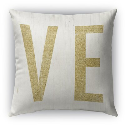 VE Burlap Indoor/Outdoor Throw Pillow Size: 16 H x 16 W