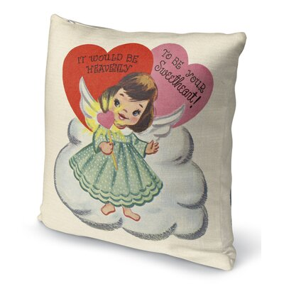 To Be Your Sweet Heart Indoor Accent Pillow Size: 24 H x 24 W