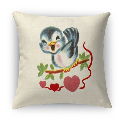 Tweet Heart Indoor Accent Pillow Size: 16 H x 16 W