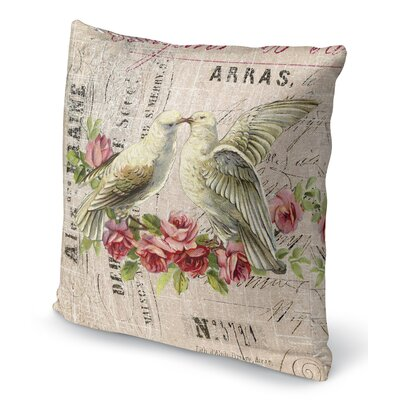 Love Birds 3 Indoor Accent Pillow Size: 18 H x 18 W