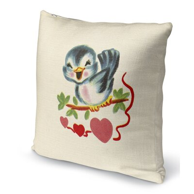 Tweet Heart Indoor Accent Pillow Size: 18 H x 18 W