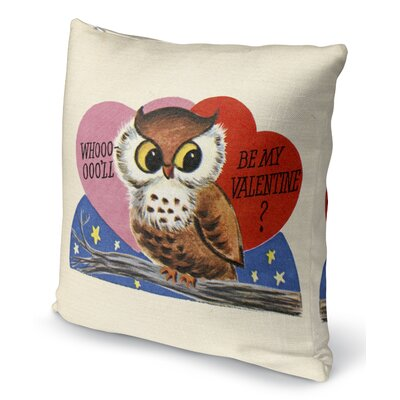 Be My Valentine Indoor Accent Pillow Size: 16 H x 16 W