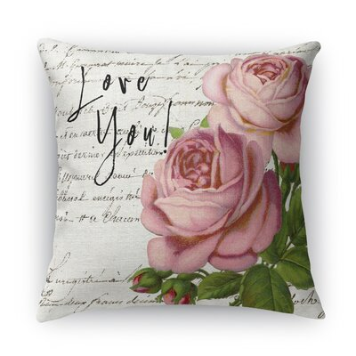 Love You Indoor Accent Pillow Size: 16 H x 16 W