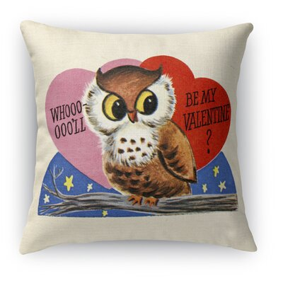 Be My Valentine Indoor Accent Pillow Size: 18 H x 18 W