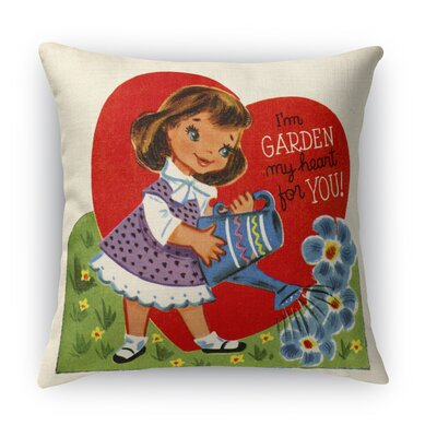 Garden My Heart for You Indoor Accent Pillow Size: 24 H x 24 W