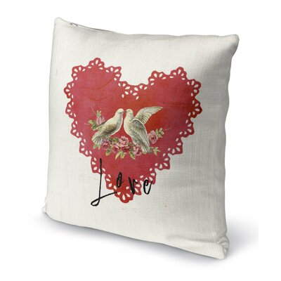 Love Birds 2 Indoor Accent Pillow Size: 24 H x 24 W