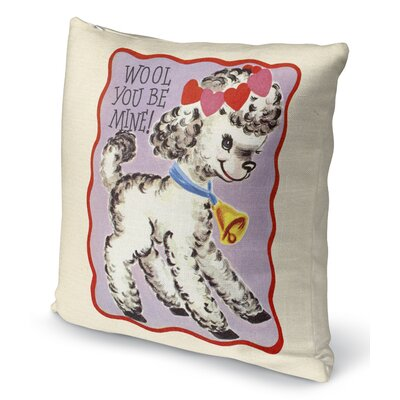 Wool You Be Mine Indoor Accent Pillow Size: 16 H x 16 W
