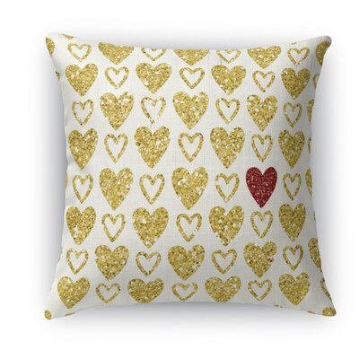 One Red Heart Indoor Throw Pillow Size: 18 H x 18 W