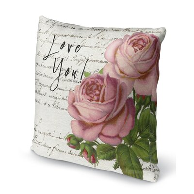 Love You Indoor Accent Pillow Size: 24 H x 24 W