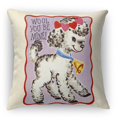 Wool You Be Mine Indoor Accent Pillow Size: 18 H x 18 W