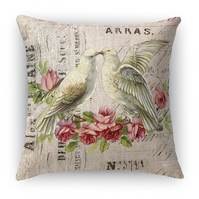 Love Birds 3 Indoor Accent Pillow Size: 16 H x 16 W