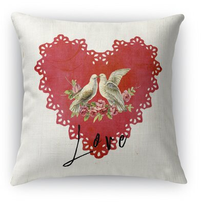 Love Birds 2 Indoor Accent Pillow Size: 16 H x 16 W