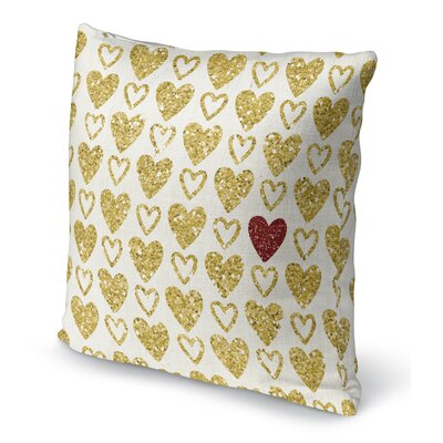 One Red Heart Indoor Accent Pillow Size: 16 H x 16 W
