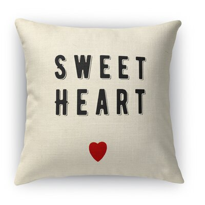 Sweet Heart Indoor Accent Pillow Size: 18 H x 18 W