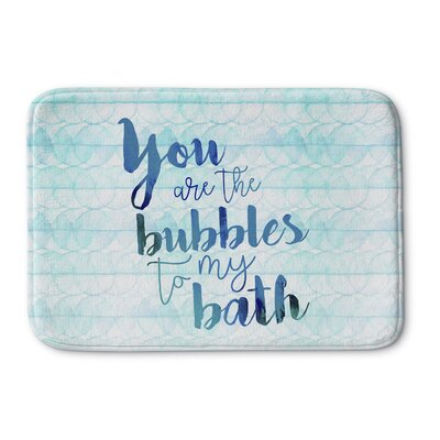 Bubbles Bath Mat Size: 17 W x 24 L, Color: Light Blue