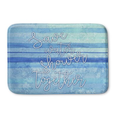 Shower Together Bath Mat Size: 17 W x 24 L
