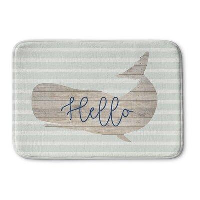 Hello Whale Bath Mat Size: 17 W x 24 L