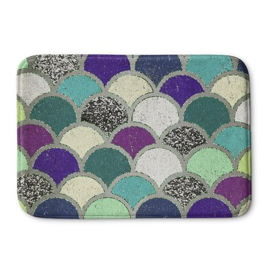 Mermaid Scales Bath Mat Size: 17 W x 24 L