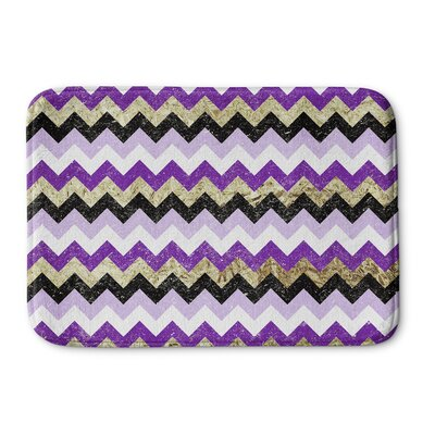 Distressed Chevron Bath Mat Size: 17 W x 24 L
