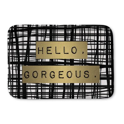 Hello Gorgeous Bath Mat Size: 17 W x 24 L