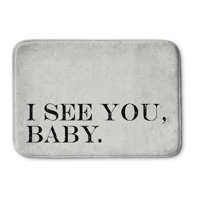 I See You Baby Bath Mat Size: 17 W x 24 L