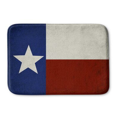 Texas Flag Bath Mat Size: 17 W x 24 L