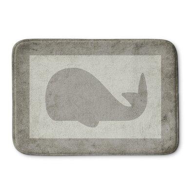 Whale Bath Mat Size: 17 W x 24 L