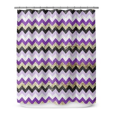 Distressed Chevron 72 Shower Curtain