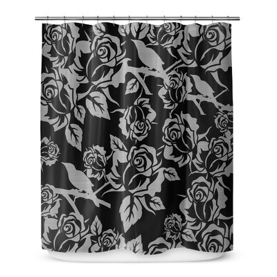 Metallic Garden 72 Shower Curtain Color: Black / Gray