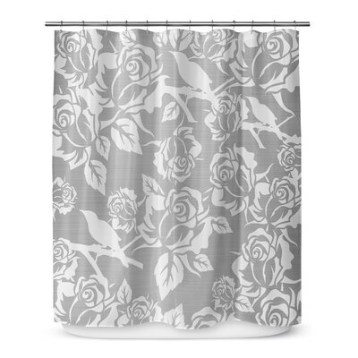 Metallic Garden 90 Shower Curtain Color: Gray / Ivory