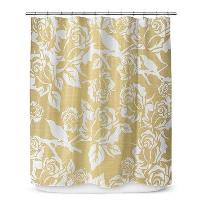 Metallic Garden 72 Shower Curtain Color: Yellow / Ivory