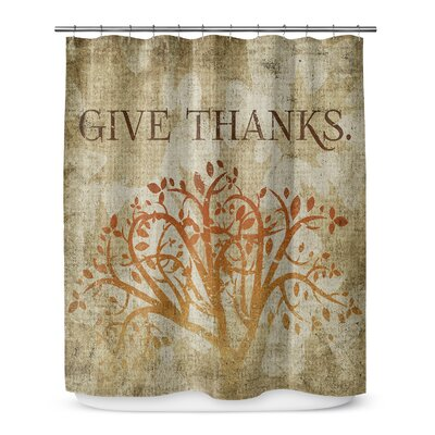 Give Thanks 72 Shower Curtain