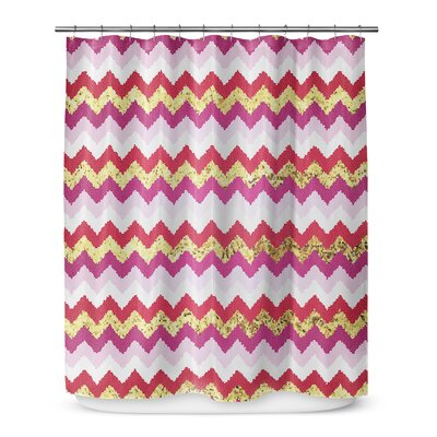 Valentine Chevron 90 Shower Curtain