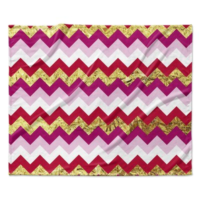 Valentine Chevron Throw Blanket Size: 30 W x 40 L