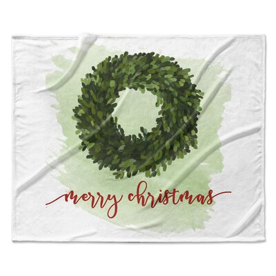 Merry Christmas Throw Blanket Size: 30 W x 40 L